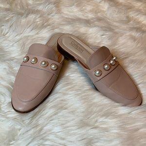 Catherine Malandrino pearl detail loafers flats